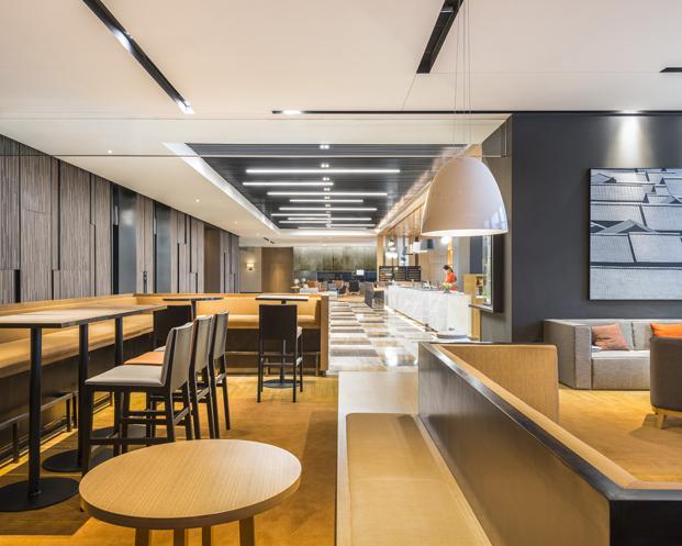 interior del Hyatt Place Hotel situado en la china moderna Luoyang del estudio de arquitectos BLVD en diariodesign