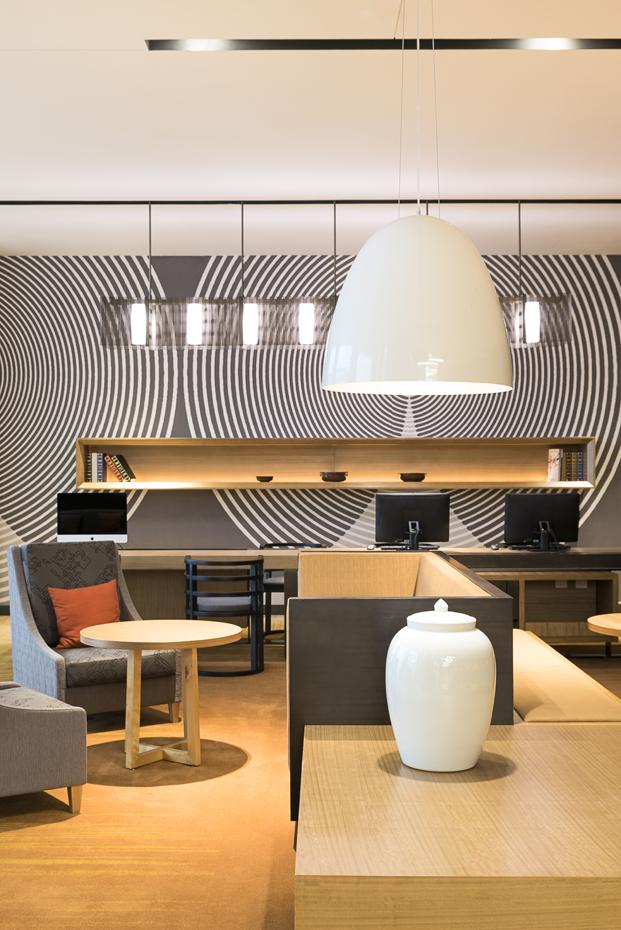 luz y texturas en el Hyatt Place Hotel en la china moderna diariodesign