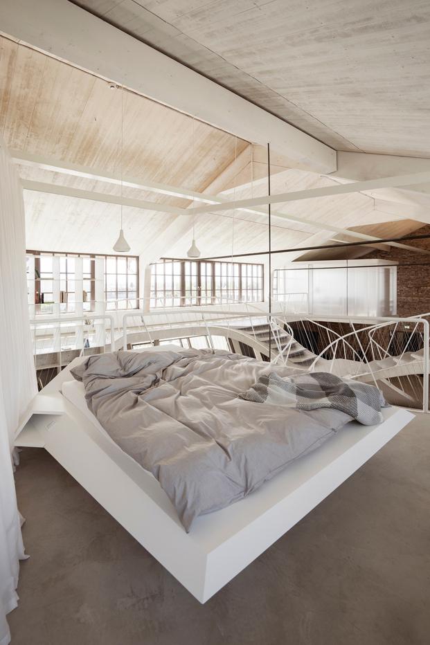 dormitorio del espectacular Loft en Salzburgo diariodesign