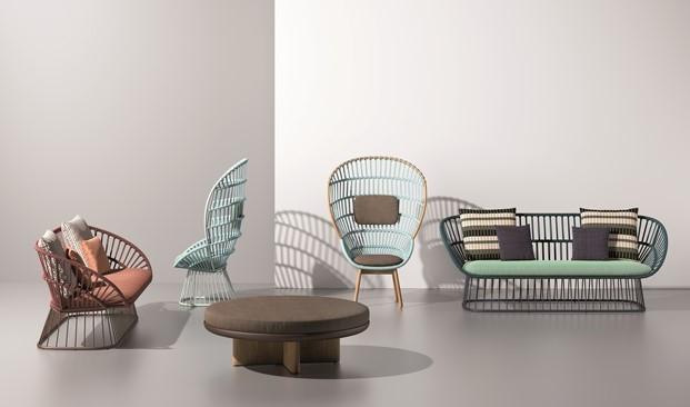 Milan 2017 foto diariodesign Set Lounge Cala colores de Doshi Levien Kettal