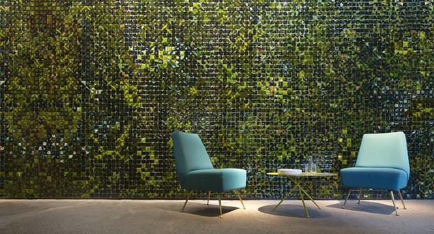 mobiliario de Paola Lenti en la Milan Design Week 2017 instalacion fábrica Orobia diariodesign