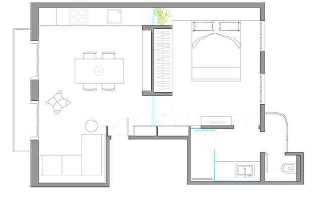 plano de una Casa de Playa Urbana en la barceloneta diariodesign