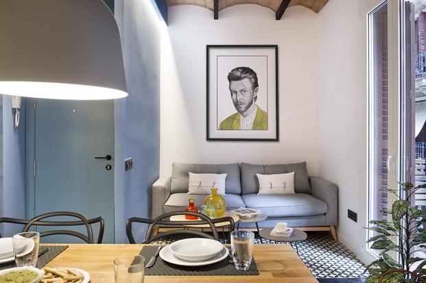salon de una Casa de Playa Urbana Egue y Seta arquitectos diariodesign