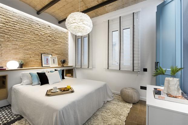 dormitorio de Casa de Playa Urbana en barcelona diariodesign