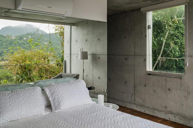 dormitorio de casa moderna en Ubatuba SPBR Arquitectos Nelson Kon Brasil diariodesign