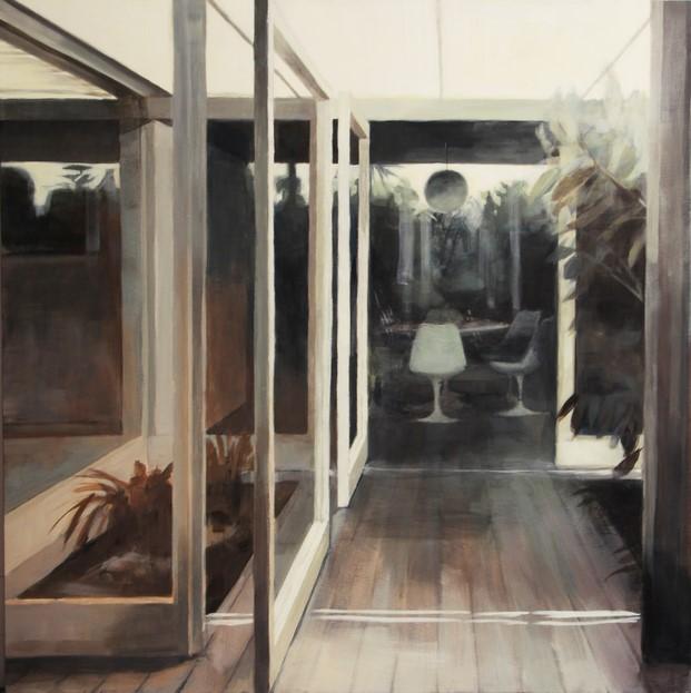 cuadro de bea sarrias de la casa guell pintura sobre arquitectura diariodesign