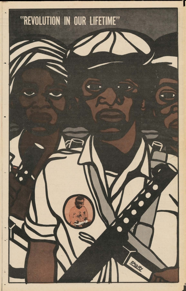 Emory Douglas en el design museum diseño de california Revolution In Our Lifetime
