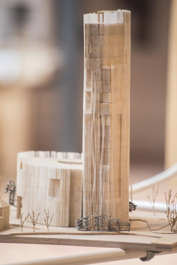 Bamboo Tower en china exposicion felicidad y arquitectura