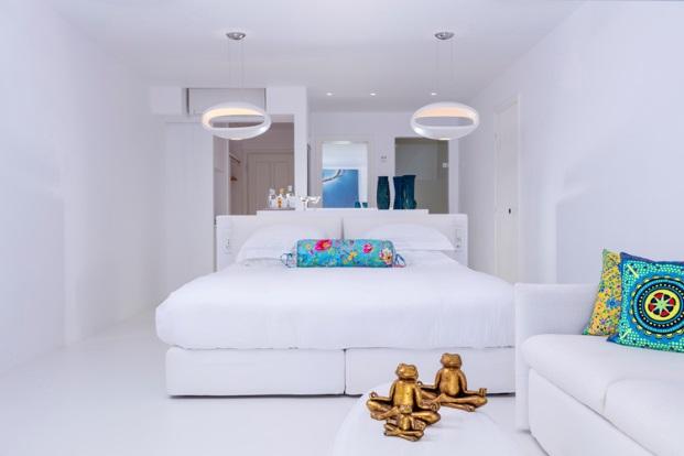 hotel Myconian Kyma l en Grecia miconos dormitorio diariodesign