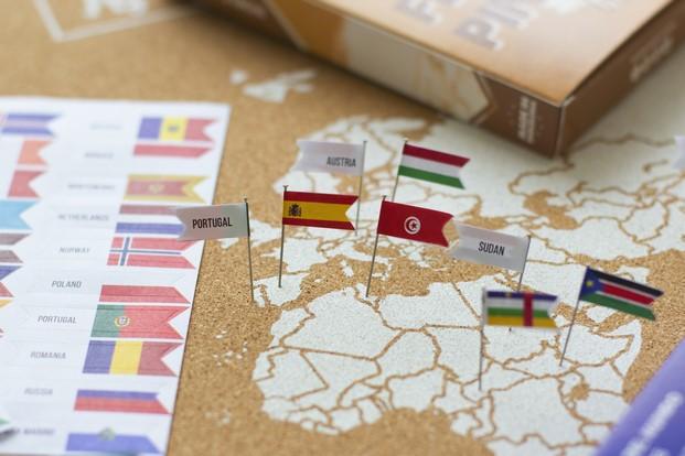 miss wood pequenas banderas de paises para corcho