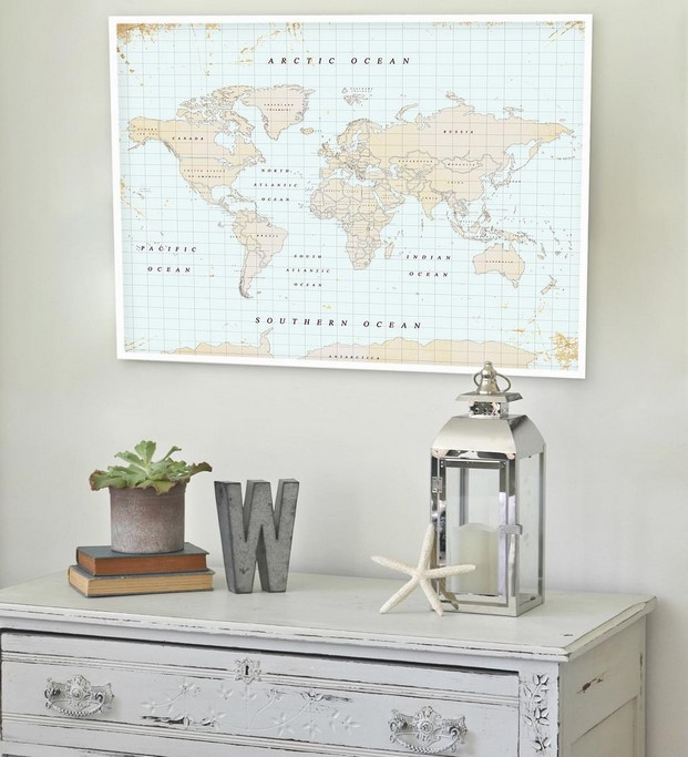 mapas de pared miss wood retro