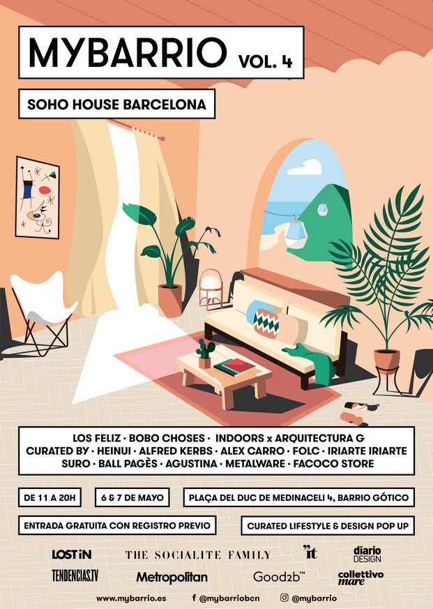 cartel de pop up de mybarrio en el hotel soho house en barcelona en mayo diariodesign