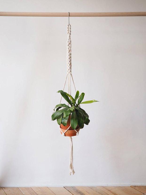 macrame para colgar planta de nuga modelo bacora para el dia de la madre en diariodesign