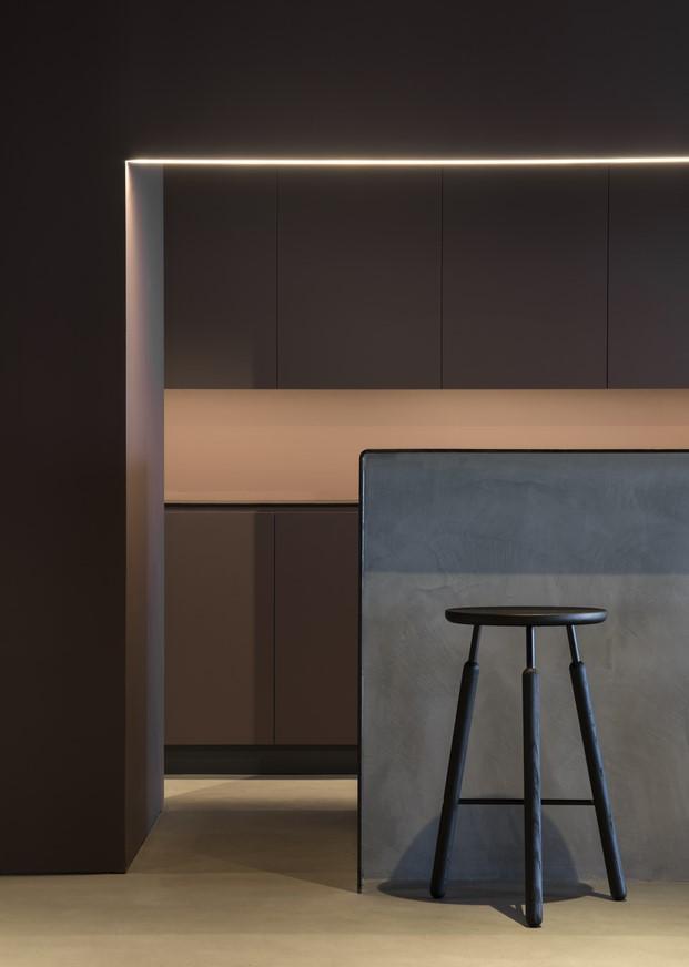 detalle de la barra del espacio gorumet en valencia rice club por francesc rife diariodesign