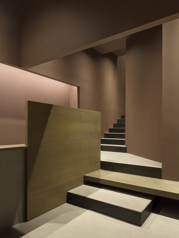 detalle escaleras del restaurante y espacio gourmet rice club en diariodesign