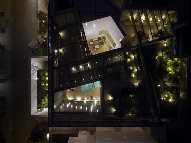 vista aerea de una casa con jardines por AGi architects diariodesign