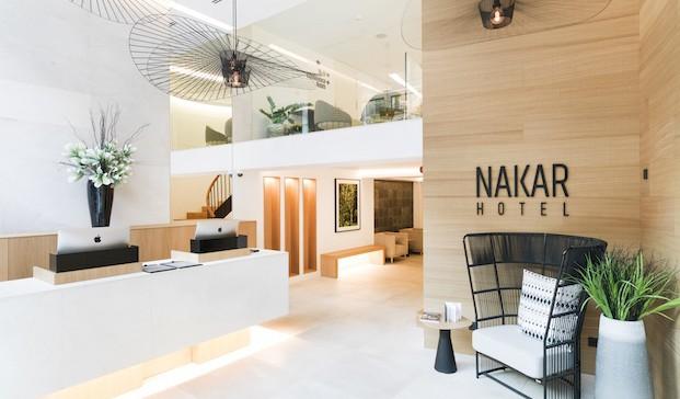 interior del Nakar Hotel en Palma en diariodesign