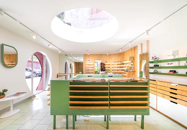 mostrador boutique OKIO Taller KEN Guatemala diariodesign