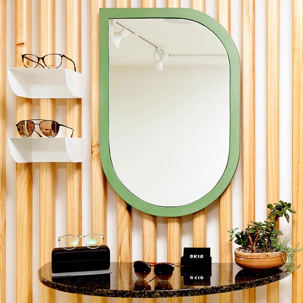 espejos en tienda de gafas okio en guatemala