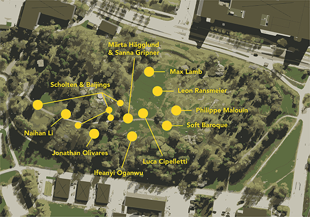 Kalejdohill - Superbenches map