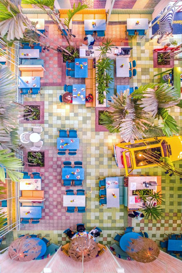imagen aerea del restaurante Saul Bistro en Guatemala diariodesign