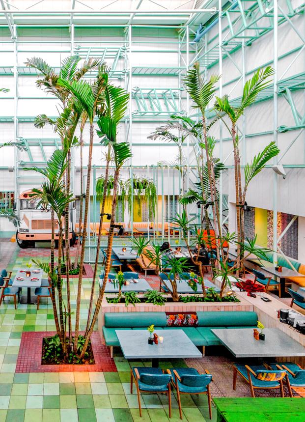 ambiente tropical en restaurante en guatemala Saul Bistro diariodesign