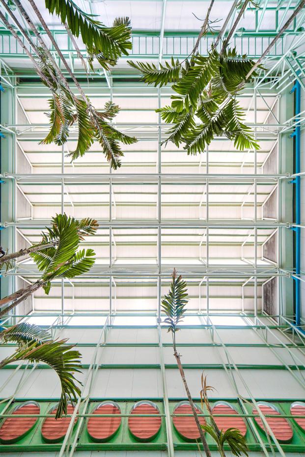 techo de cristal del restaurante Saul Bistro en Guatemala diariodesign