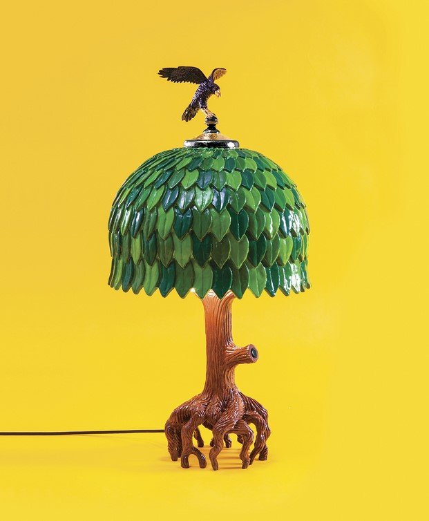 lámpara de Studio Job Seletti Arbol tiffany tree un limited editons pop-up en la tienda  diariodesign