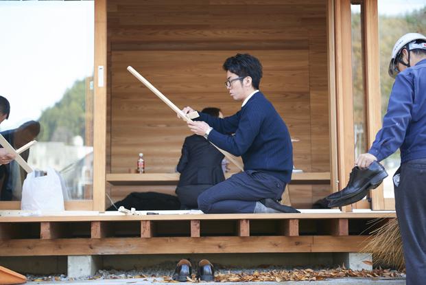 construccion de Yoshino Cedar House casas airbnb en diariodesign