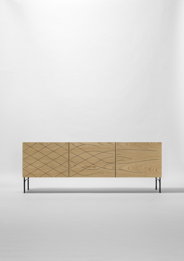 cabinet couture de farg blanche para bd barcelona en el salon del muebel de milan made in spain diariodesign