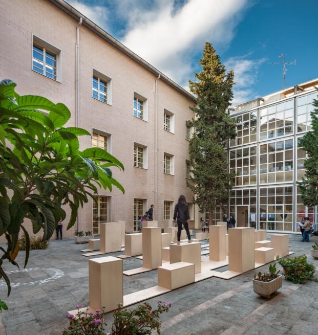 Shalumo+Ma en la biblioteca publica de logroño para el festival de arquitectura y diseño concentrico