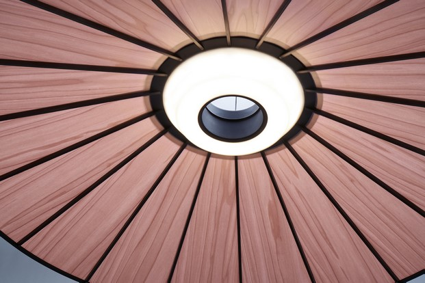 detalle lampara banga de lzf en euroluce 2017 diariodesign
