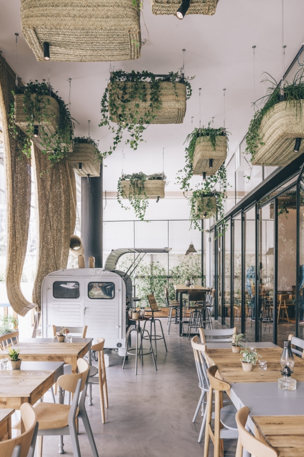 interior restaurante ecologico en madrid Honest green