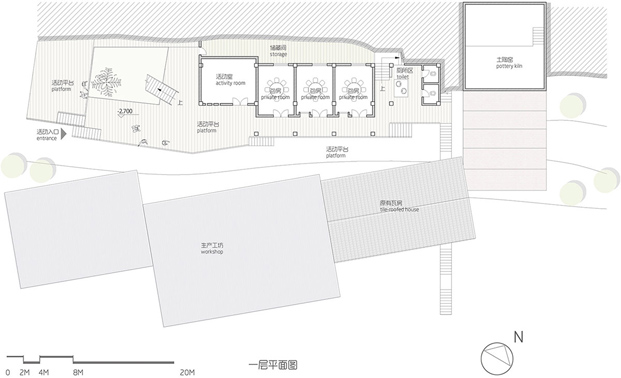 plano planta baja restaurante de ladrillo huxi pottery kiln tian qi