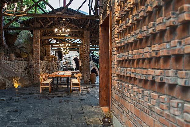 un restauran chino de ladrillo