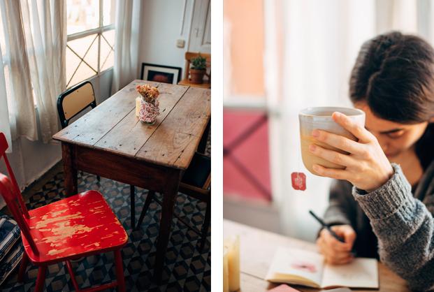 monica bedmar con taza fotografa entrevista slowkind diariodesign
