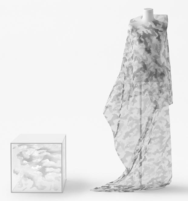 objectextile camuflaje del estudio de diseño nendo para jil sander