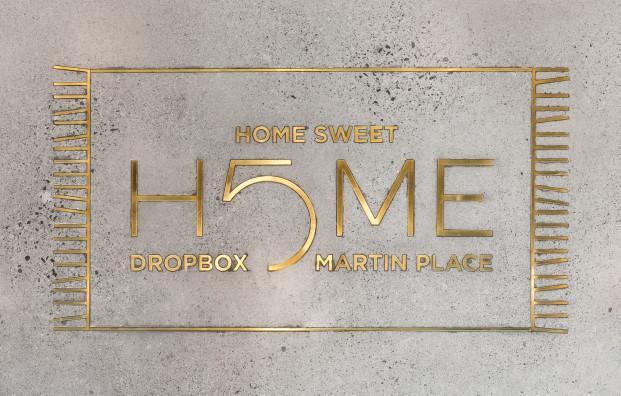 alfombra de las nuevas oficinas en sidney de dropbox diariodesign