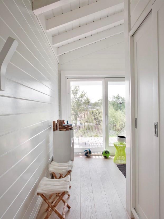 detalle del interior de casas de maderar de Saaranha & Vasconcelos en comporta diariodesign