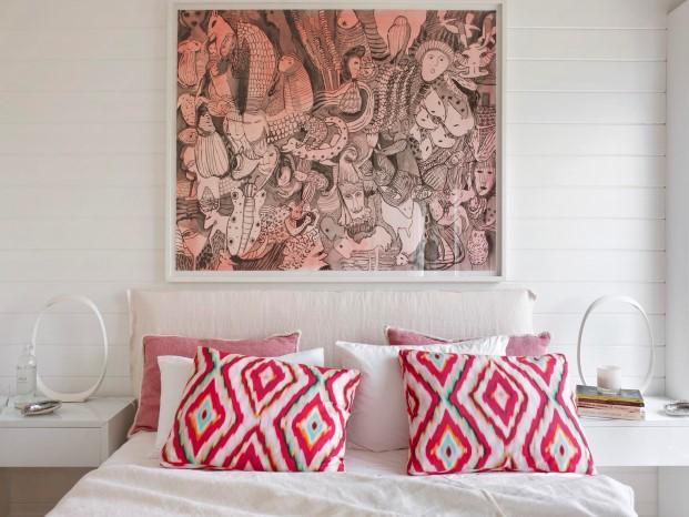 dormitorio de casa de madera refugio de Saaranha & Vasconcelos en comporta diariodesign