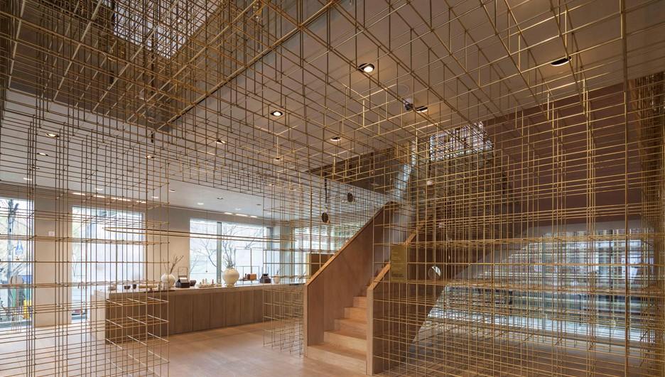 sulwhasoo flagship de latón store arquitectos neri hu en diariodesign