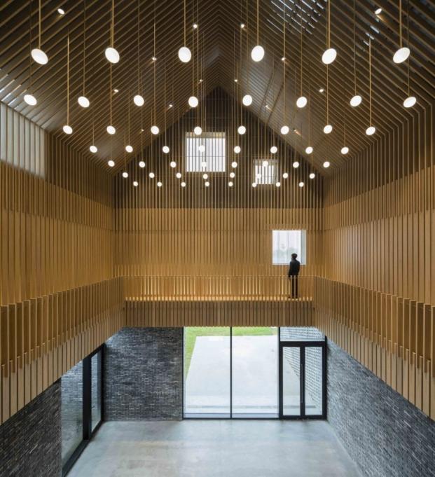 interior de la capilla suzhou chapel de arquitecto neri and hu en diariodesign magazine