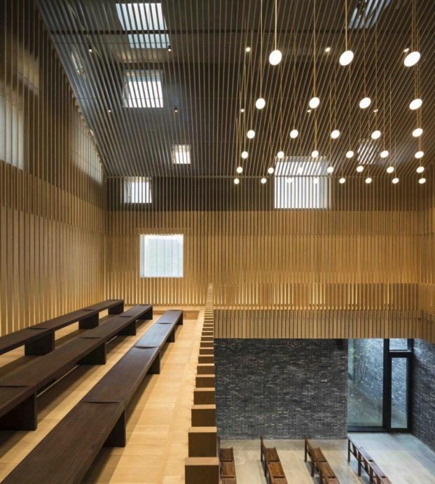 iluminacion de la capilla en suzhou de los arquitecots chinos neri and hu en diariodesign magazine