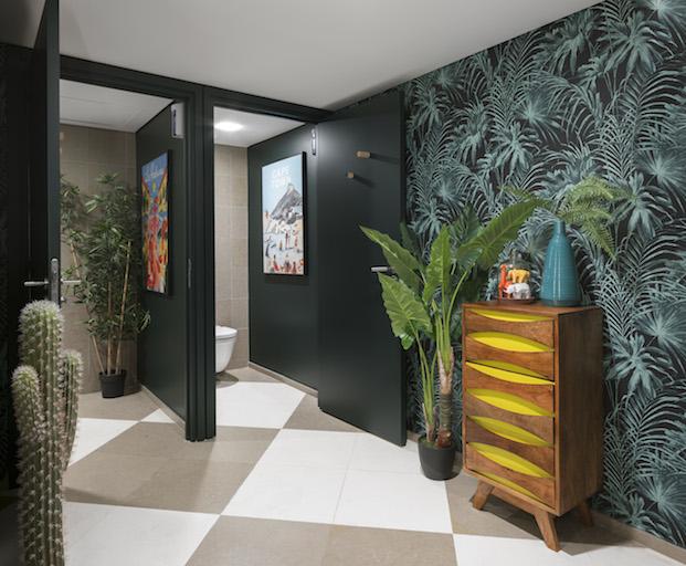 baños eclecticos airbnb paris oficinas