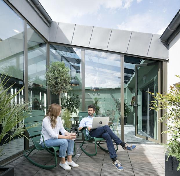 terraza oficinas airbnb parís