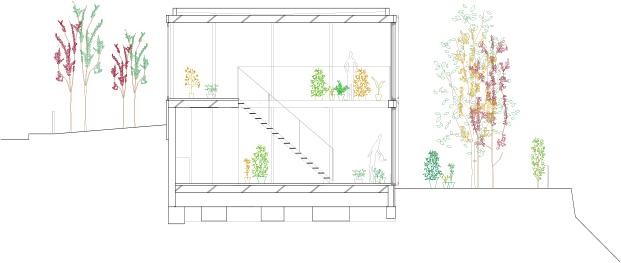 plano de vivienda con cerramientos de aluminio technal