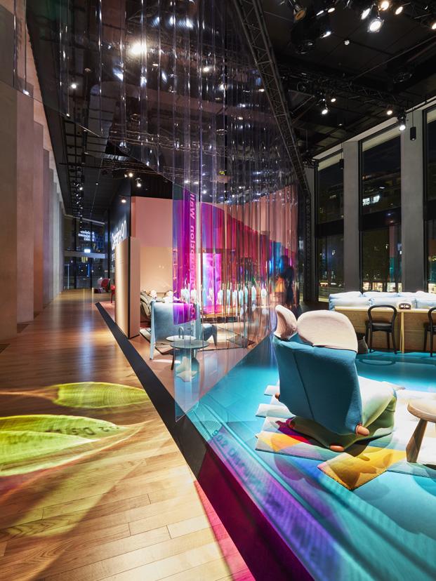interior de la expo la casa del futuro de Cassina en milan