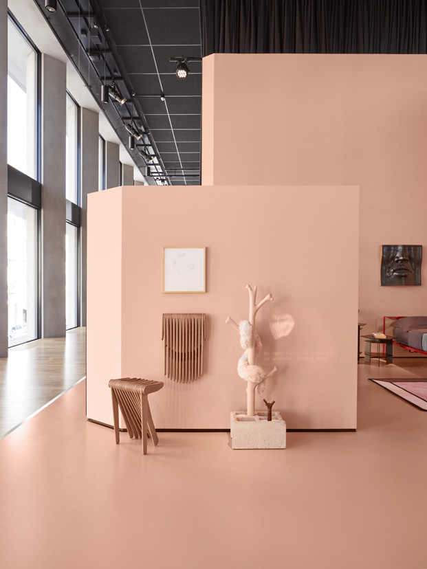 rosa palo en la casa del futuro en milan