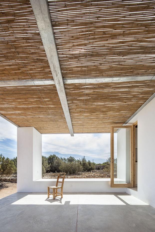 techo porche de una casa en formentera Can Xomeu Rita