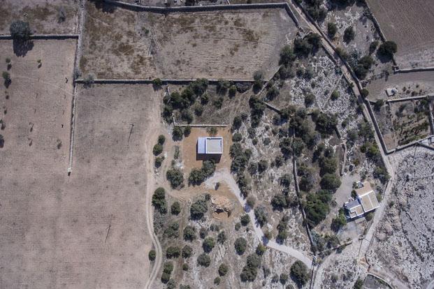 vista aerea de casa en formentera